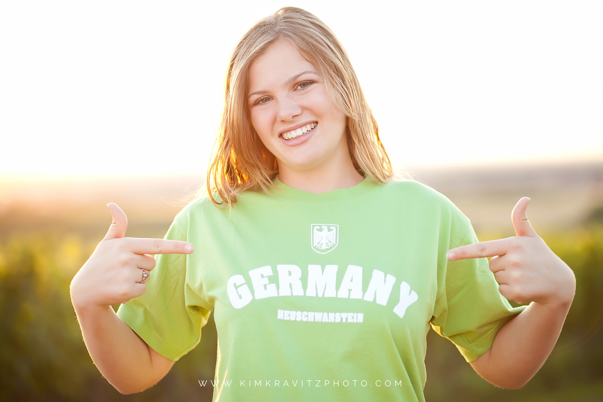 Girard Kansas High School Senior Pictures in Europe Kim Kravitz