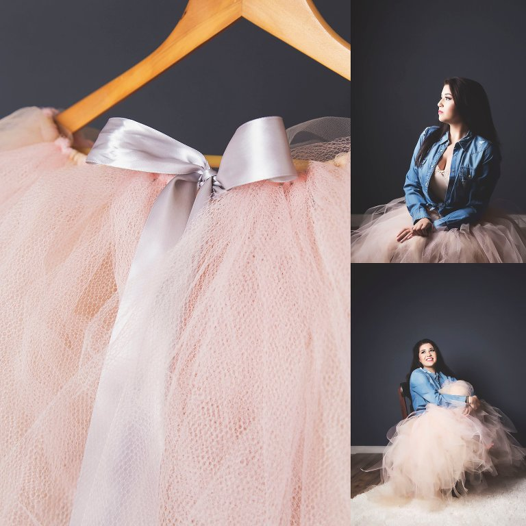 What to wear boudoir photography nude pink tulle sue bryce skirt