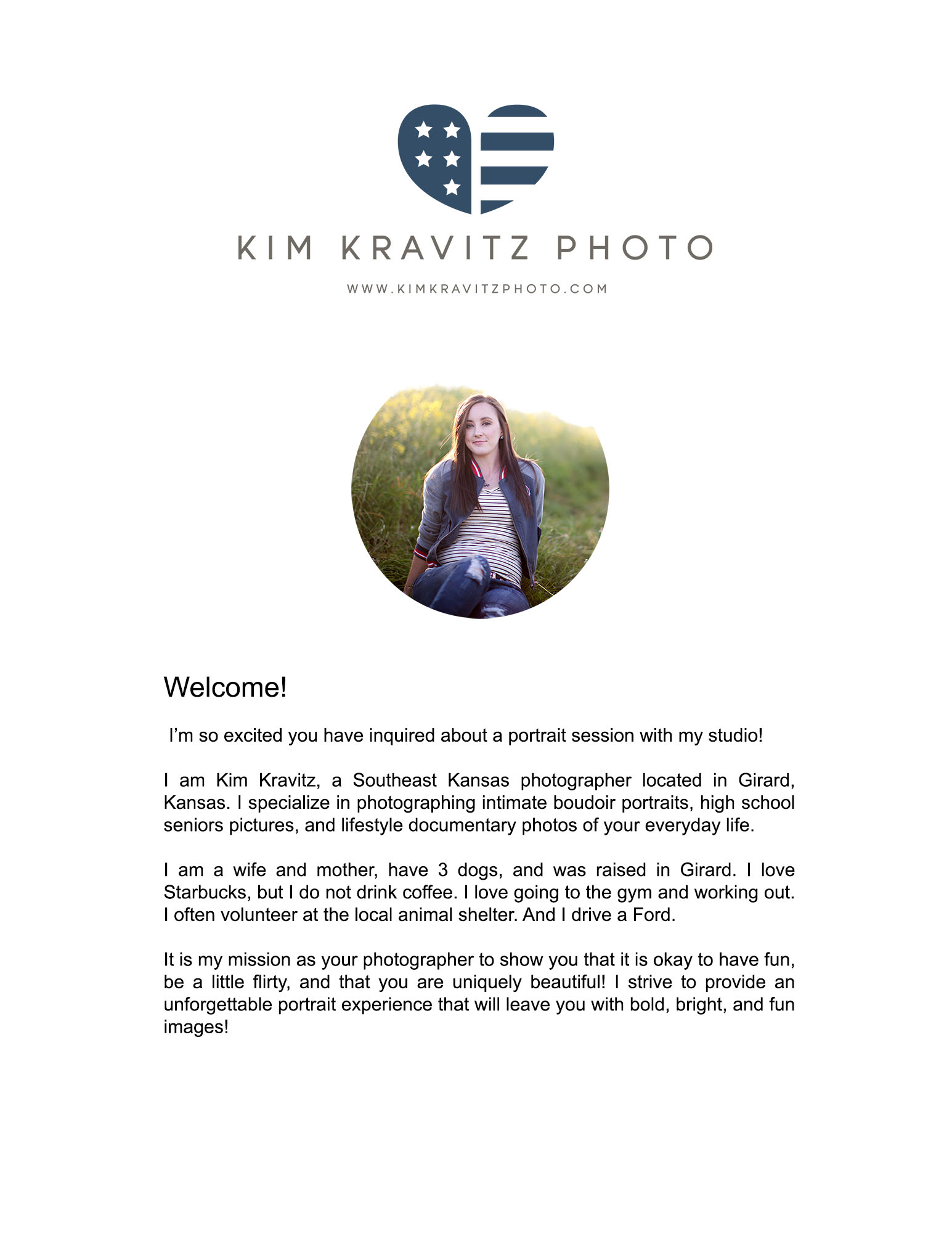 High School Senior Pricing Guide Girard Kansas Kim Kravitz