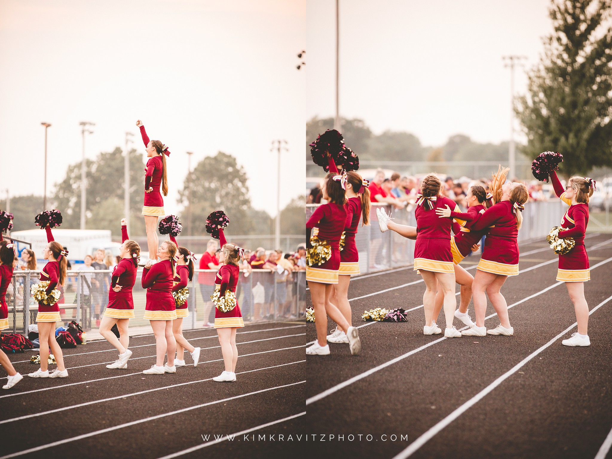 Girard trojans vs frontenac raiders kansas high school football cheerleaders kim kravitz