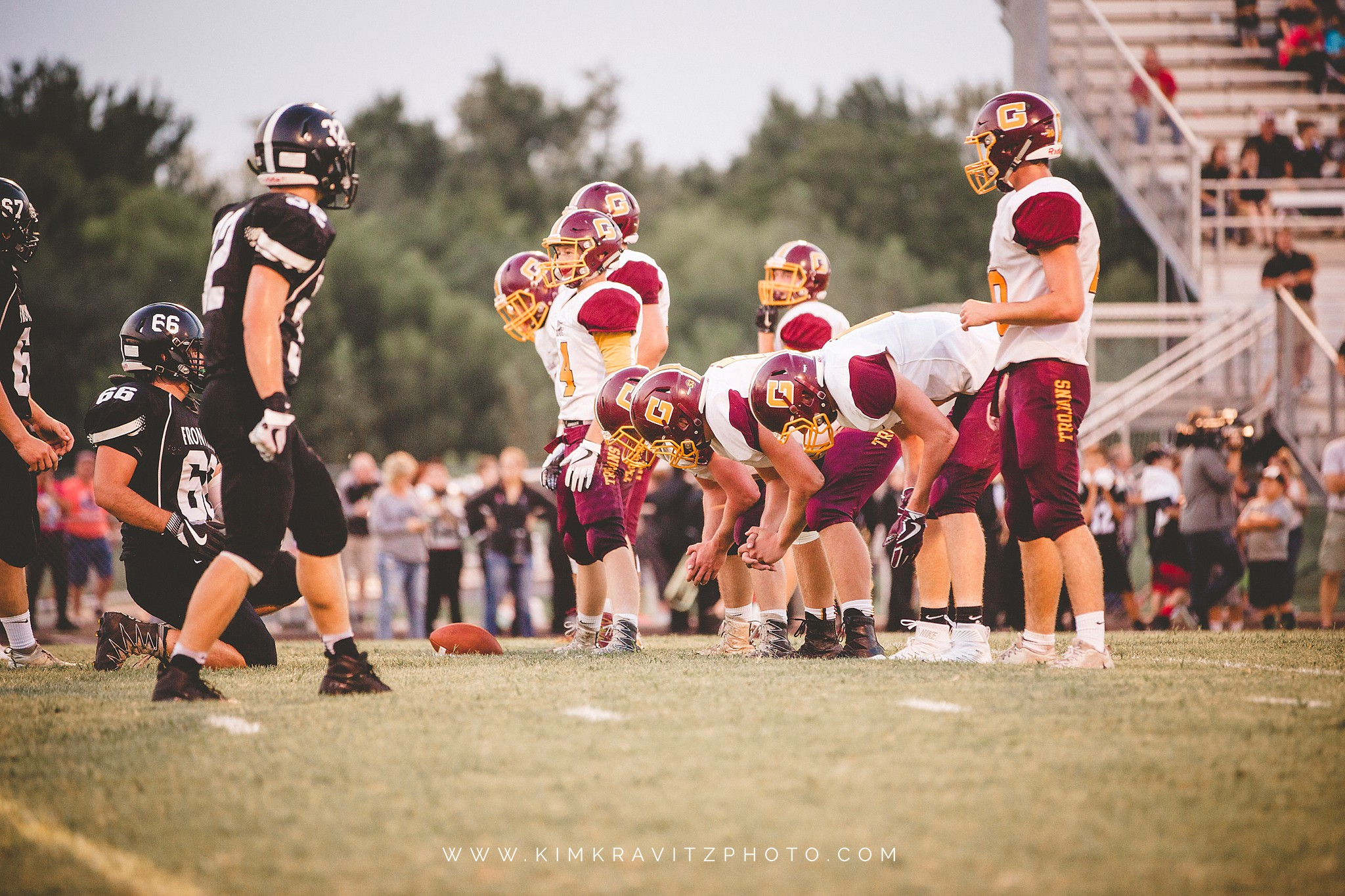 Girard trojans vs frontenac raiders kansas high school football kim kravitz
