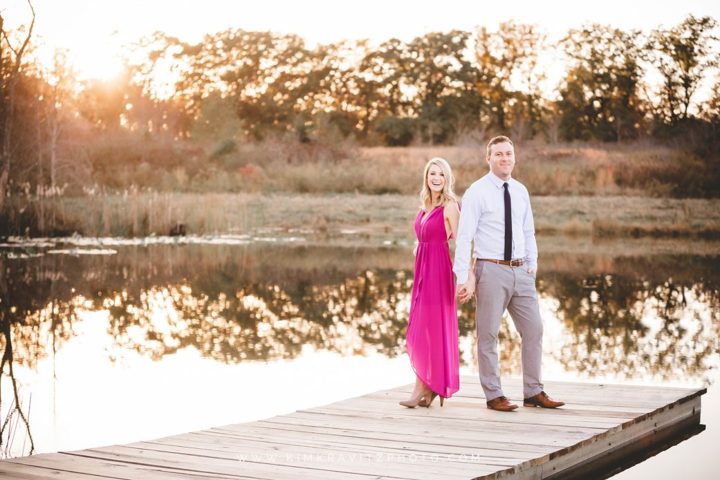 Nevada Missouri Engagement Photography at private lake and cabin