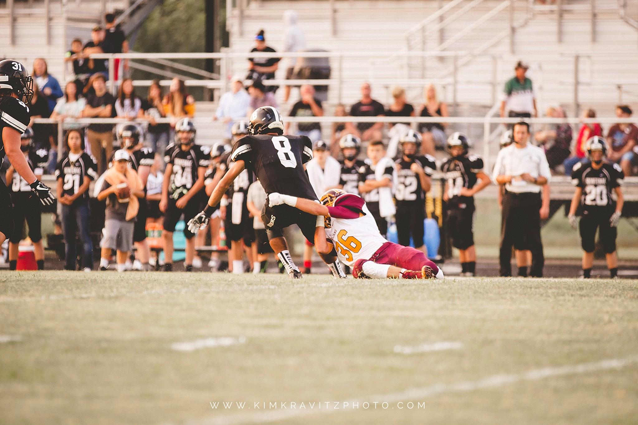 Girard Trojans vs Frontenac Raiders Kansas Football by Kim Kravitz