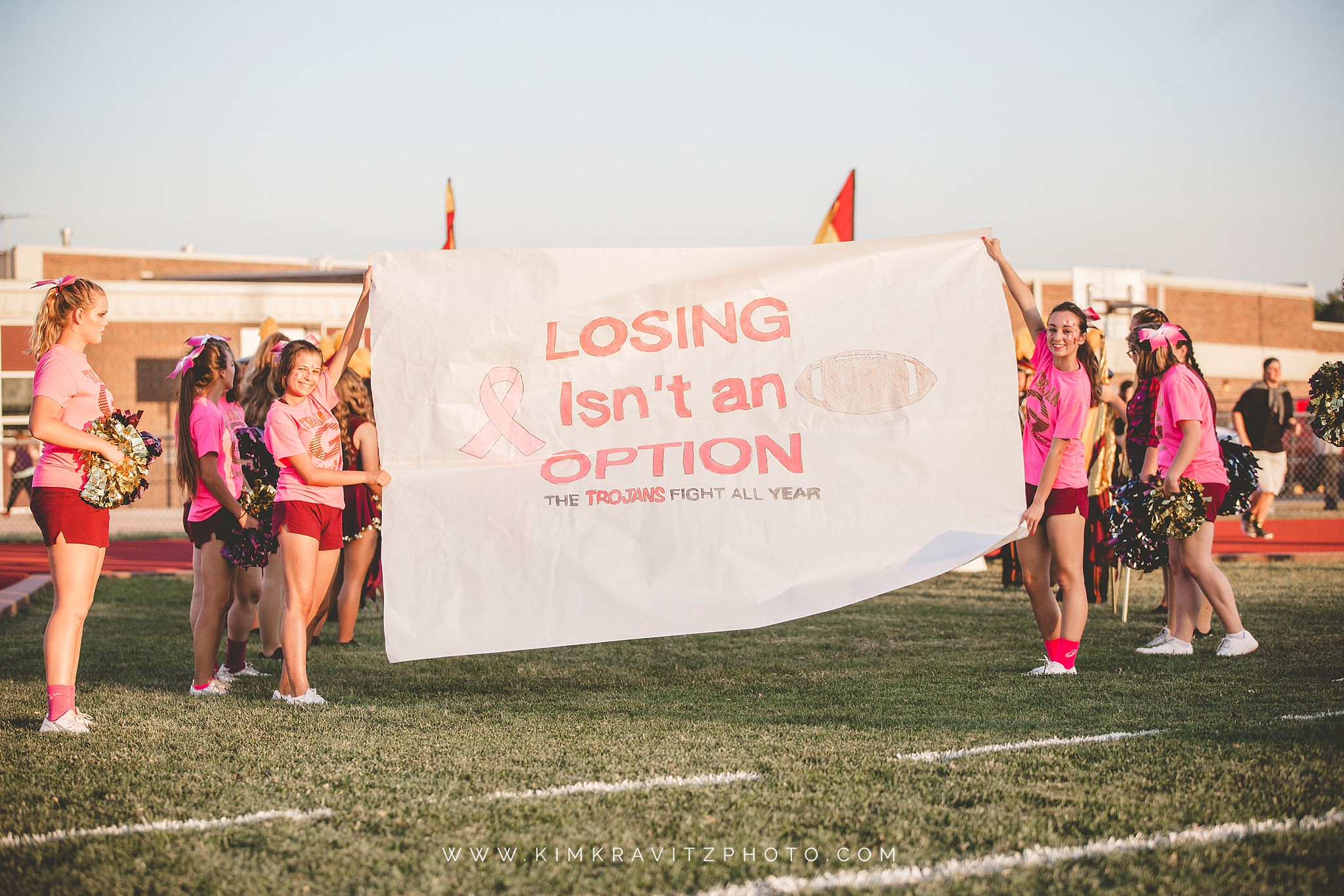 Girard Trojans vs Galena Bulldogs Pink out night kansas football kim kravitz
