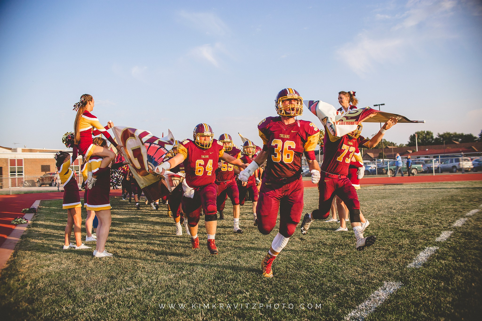 Girard Trojans vs Riverton Rams Kansas Football Kim Kravitz