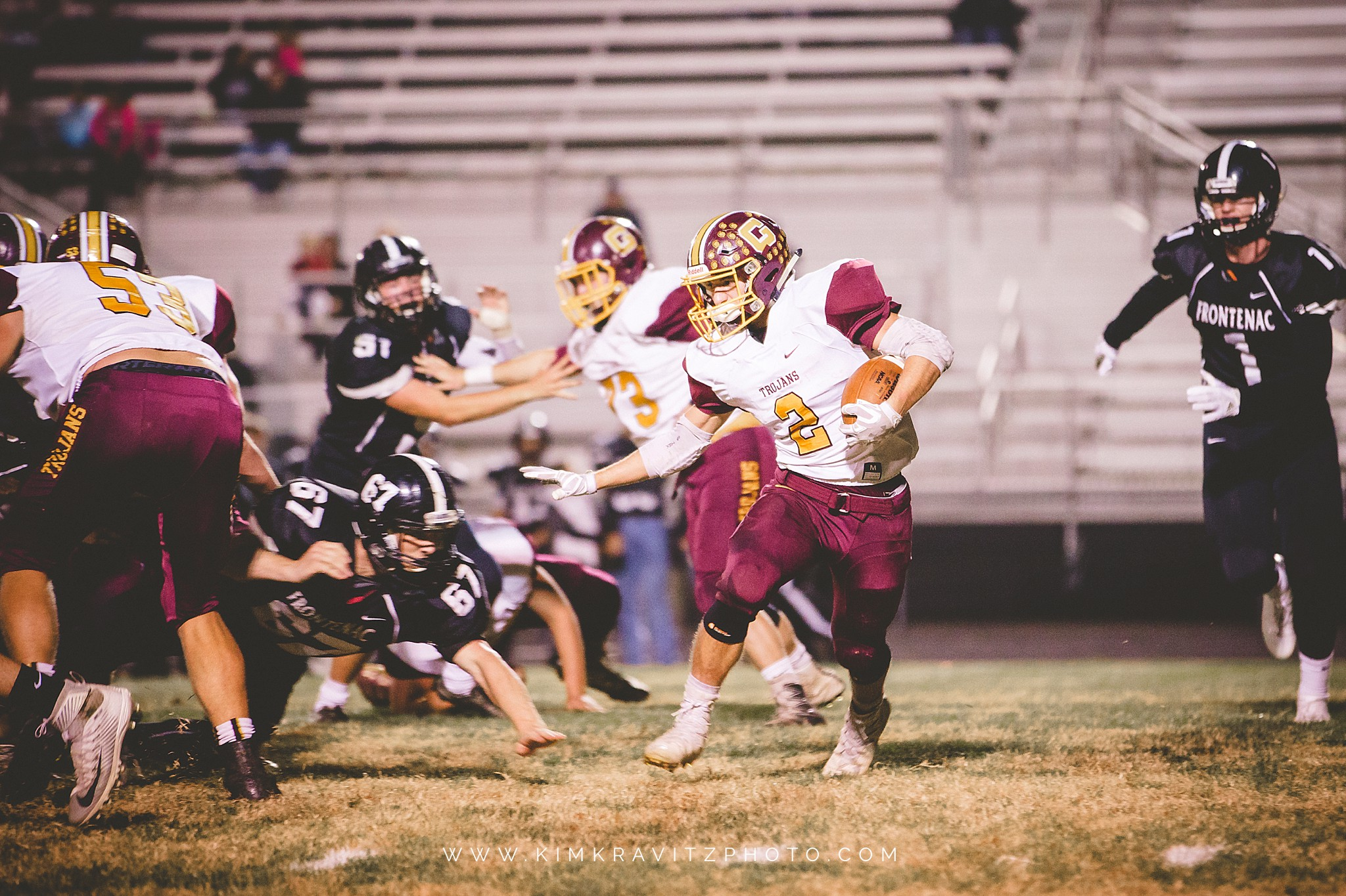 Girard Trojans Frontenac Raiders Kansas High School Football Regionals Kim Kravitz