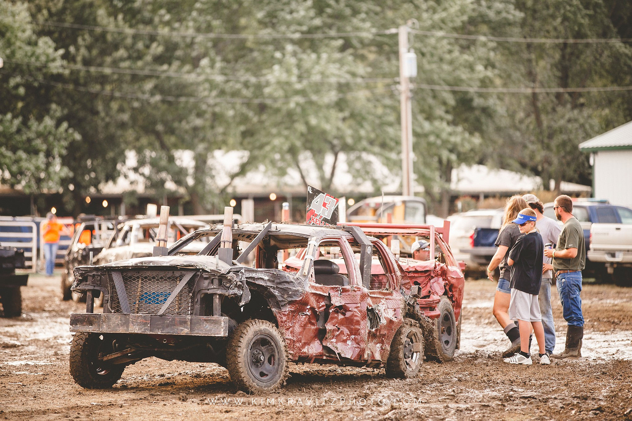 demolition derby at the crawford county fair
