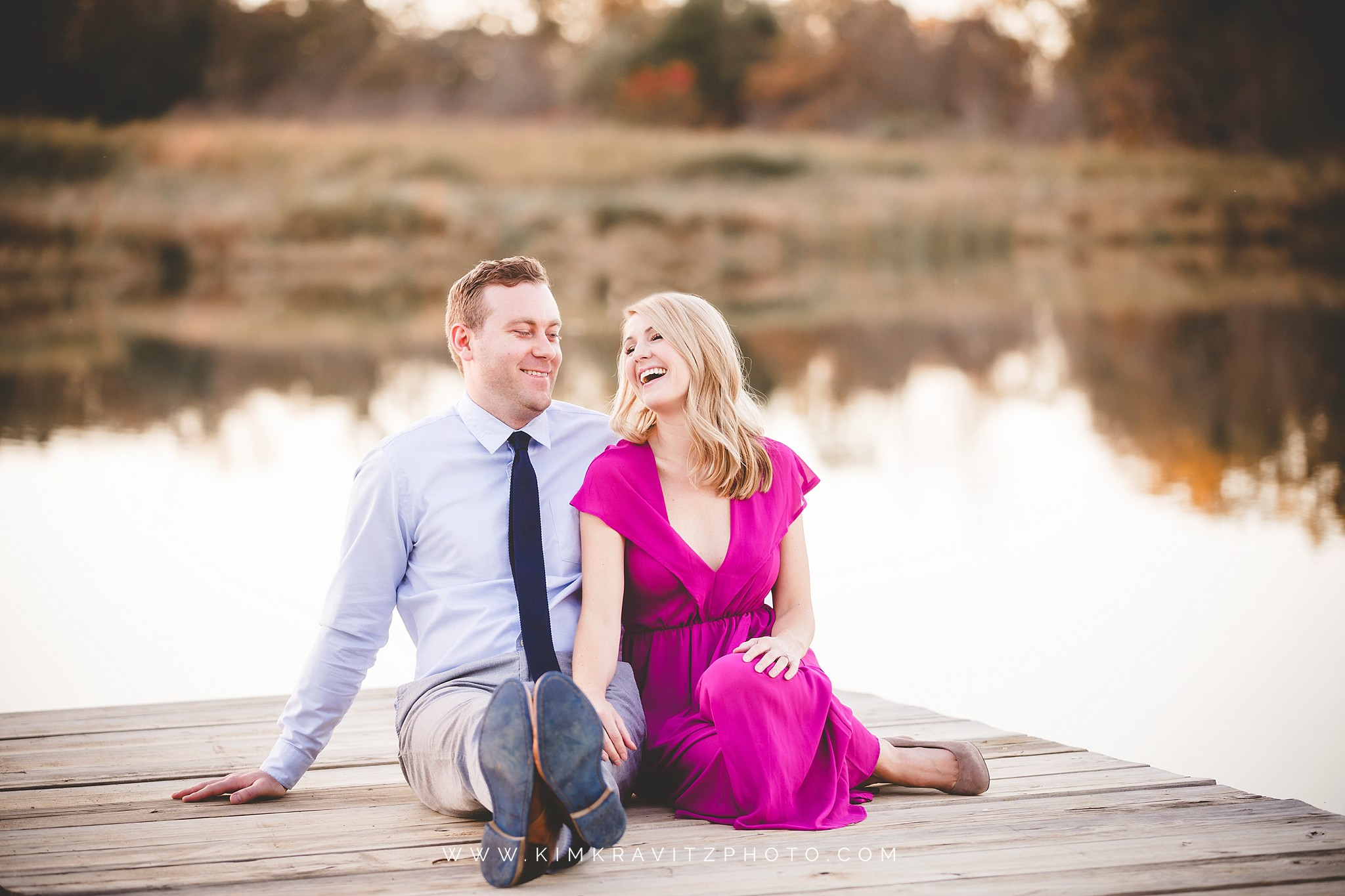 engagement session at private pond near nevada missouri