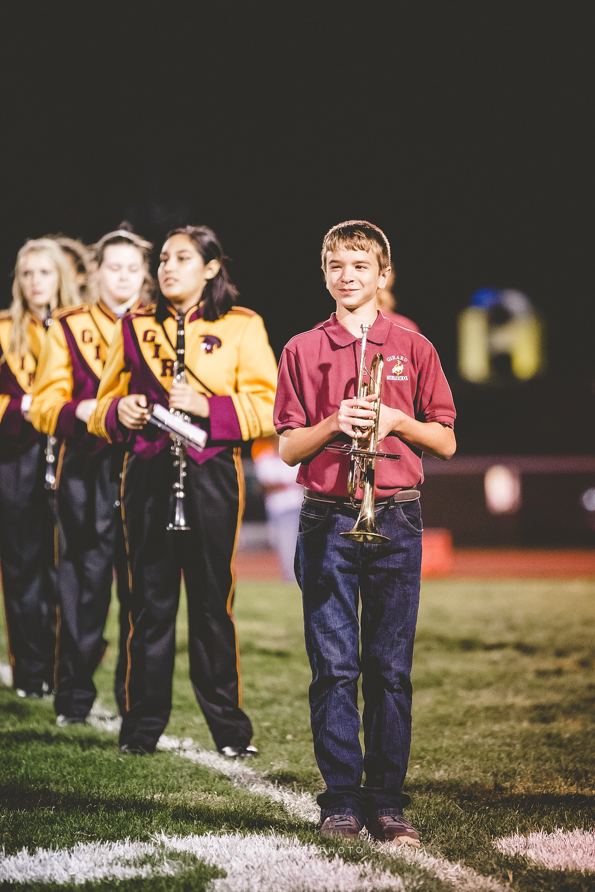 girard high school and middle school mass band performance
