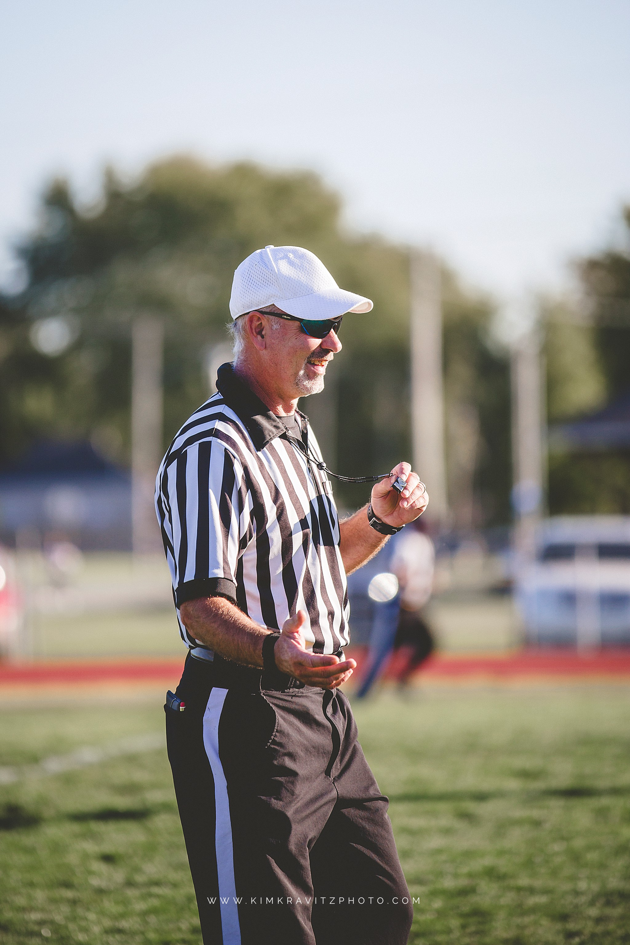 football referee at girard middle school football game