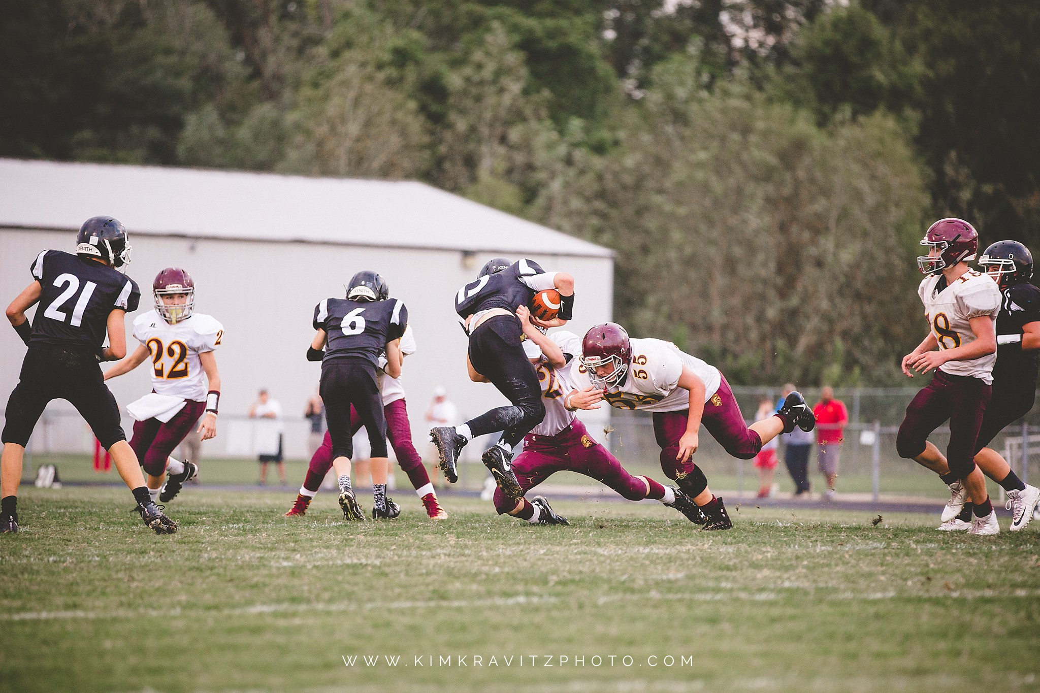 Girard Vs Frontenac Kansas Middle School Football Kim Kravitz Photo Girard Ks